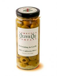 Swimming in Garlic Olives