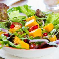 Arugula Salad with Honey Citrus Pomegranate Dressing