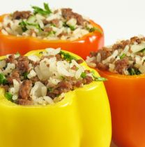 Barbeque-Stuffed Bell Pepper Boats
