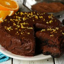 Blood Orange Chocolate Cake
