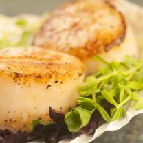 Foil Baked Scallops and Sugar Snap Peas