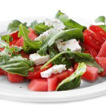 Fresh Basil Watermelon Caprese Salad