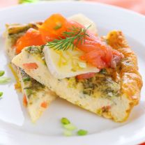 Egg White Frittata with Lox and Arugula
