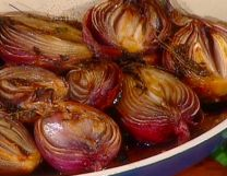 Roasted Onions Agrodolce