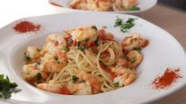 Garlic Shrimp Linguine