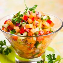 Strawberry and Cucumber Salsa