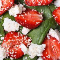 Strawberry, Fig & Basil Salad