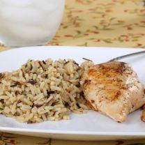 Vanilla Fig Chicken with Wild Rice